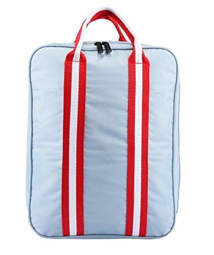 Linshe Reisetasche Tragbare Gepäcktasche Unisex Lässige Sporttasche Handtasche Umhängetasche Schultertasche classic Sportbag Travelbag Multifunktionale Taschen Silber/ Marineblau (marineblau) silber