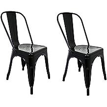 La Silla Espanola Die Spanische Stuhl Tolix Pack Stuhle Mit Ruckenlehne Edelstahl Schwarz