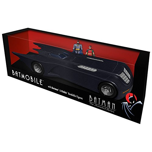 Batman The Animated Series Batmobile With Batman and Robin Bendable Figures