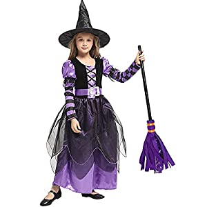 SHUOYUE Disfraz de Bruja Niña