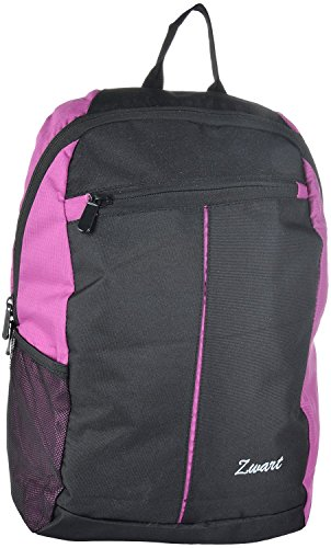 Zwart 20 Ltrs Black and Purple Laptop Backpack