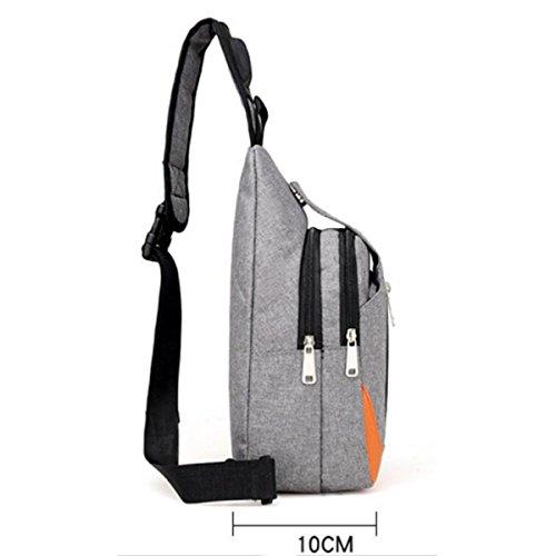 Männer Brust Sport Outdoor Messenger Bag Bulk Umhängetasche,LightGray DarkGray