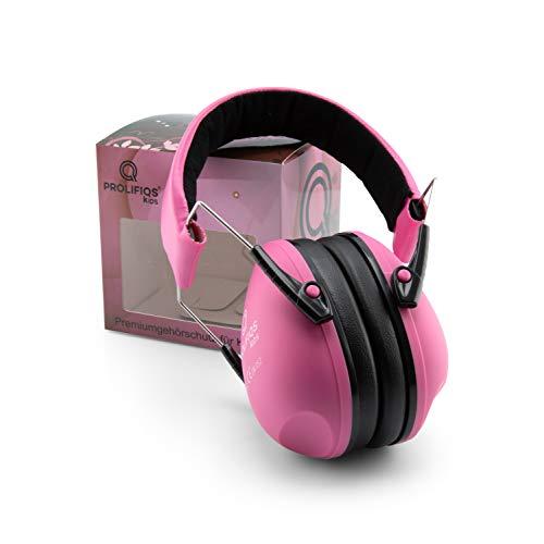 Gehörschutz Kinder und Jugendliche I Lärmschutz Kopfhörer für Kinder + Jugendliche von 3 bis 16 Jahre I PVC-freie Lärmschutzkopfhörer für Mädchen I Pink