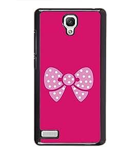 Pink Bow 2D Hard Polycarbonate Designer Back Case Cover for Xiaomi Redmi Note :: Xiaomi Redmi Note 4G