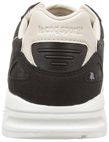 Le Coq Sportif Lcs R900 W Floral, Baskets Basses Femme Noir (Black/Gray Morn)