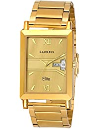 Laurels Lwm-oliver-060606 Analog Gold Dial Men's Watch-LWM-OLIVER-060606