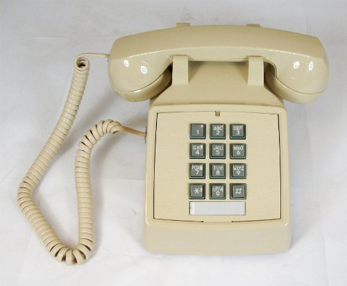 Cortelco ITT-2500VAS Single-Line Desk Phone (Ash) by ITT Itt Cortelco Single