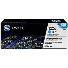 HP 122A - Cartucho de tóner original LaserJet para Laserjet series 2550, 2820 y 2840, color cian