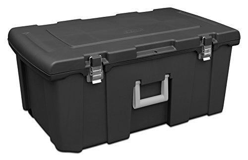 sterilite-18429001-footlocker-black-w-titanium-handle-galvanized-steel-latches-by-sterilite