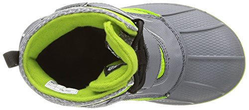 Crocs Allcast Waterproof Boot Gs, Boots mixte enfant Noir (Charcoal/Volt Green)