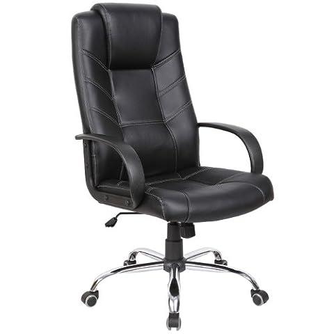 MY SIT Chaise de bureau Siège de bureau Fauteuil Design Noir Honolulu avec (Sedia Da Ufficio Poggiatesta)