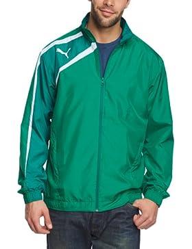 Puma Chaqueta de fútbol sala para hombre, tamaño M, color power verde - team verde - blanco