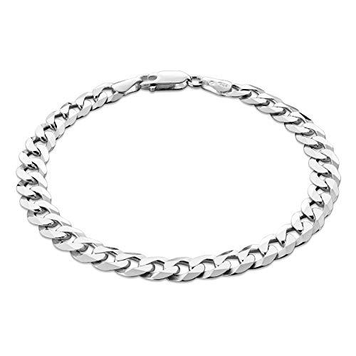 STERLL Herren Silberarmband Sterling-Silber 925 20cm Schmucketui Luxus Geschenke für Männer