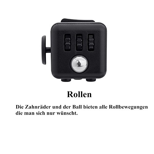 Younger Black Fidget Cube Relieves Stress for Children and Adults - 5