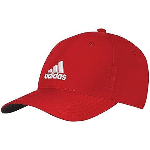 2015Adidas Performance Max sombrero ajustable relajada Mens gorra de golf, color Power Red/White, tamaño talla única
