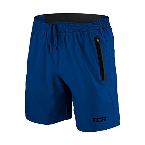 TCA Herren Trainigsshorts Elite Tech für Laufsport - Mid Blue (Mittelblau) - M