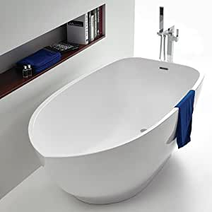 Vasca da bagno freestanding kreta in acrilico casa e cucina - Vasca da bagno acrilico ...