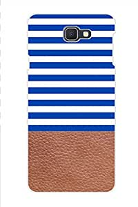 AMAN Blue White Row 3D Back Cover for Samsung Galaxy J7 Prime