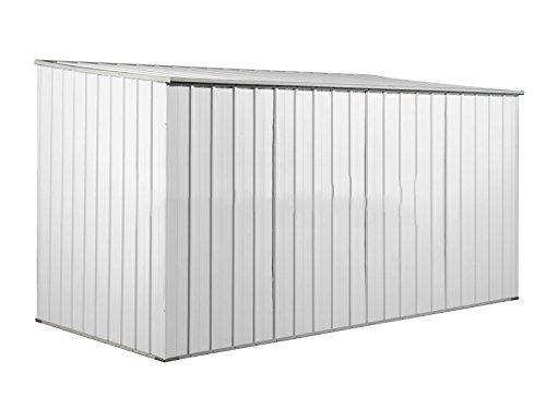 Casetta Giardino In Lamiera : Casetta box da giardino in lamiera bianca per deposito attrezzi