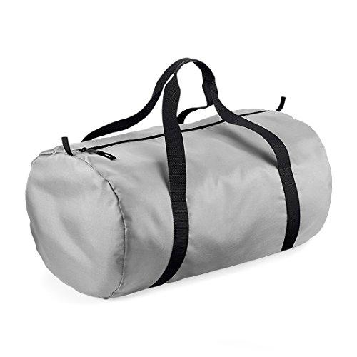 ShirtInStyle leichte Tasche für jeden Anlass BagBase, Kult Silber/Schwarz