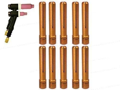1 oder 10 Stück 0,5-3,2mm Spannhülsen kurz Stubby Umbau SR-17/18/26 für SR-9 WIG/TIG