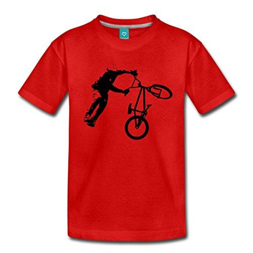 Spreadshirt BMX Dirt Jump Teenager Premium T-Shirt, 146/152 (10 Jahre), Rot