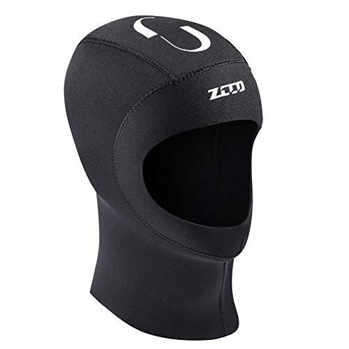Ethic 5mm Tauchhaube Neopren Schirmmütze Unisex Warm Neoprenanzug Kappe UV Schutz Schnorcheln Hut zum Schwimmen Scuba Surfen Unterwassersport