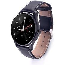 RG pelle Bluetooth intelligente orologio per amanti Coppia Fitness Tracker compatibile con Android IOS, Confezione regalo inclusa - nero, per gli uomini