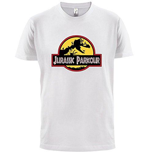Jurassic Parkour - Herren T-Shirt - 13 Farben Weiß