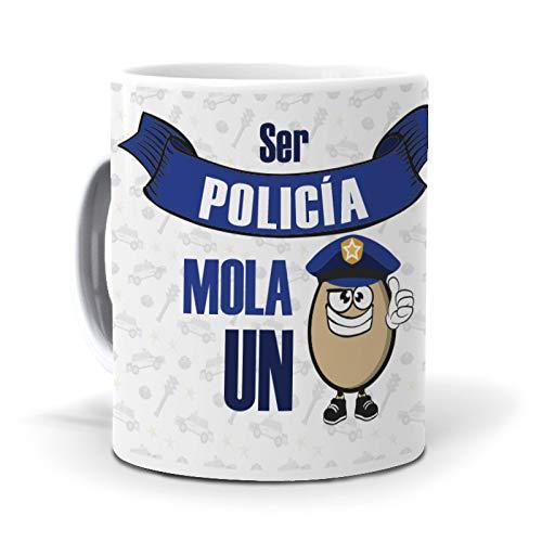 Taza Ser policía Mola un Huevo