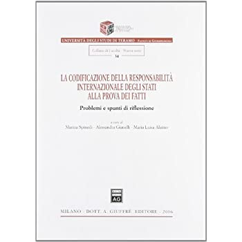 La Codificazione Della Responsabilità Internazionale Degli Stati Alla Prova Dei Fatti. Problemi E Spunti Di Riflessione