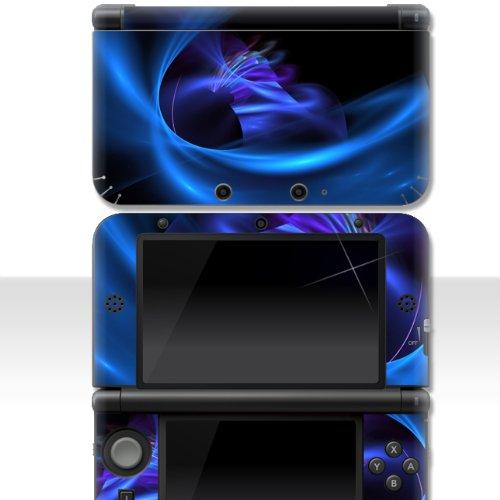 """Nintendo NEW 3DS XL Skin \"""" BLUE WAVE 2 \"""" Aufkleber Sticker Folie Schutzfolie"""