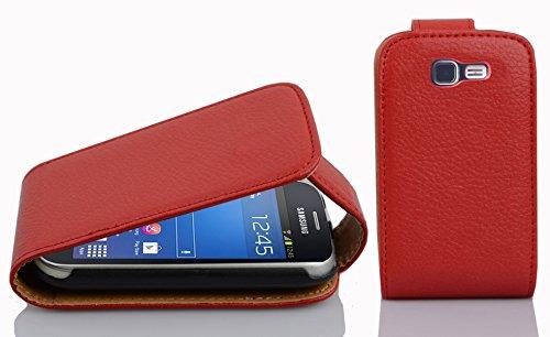 Cadorabo - Flip Style Hülle für Samsung Galaxy TREND LITE (GT-S7390) - Case Cover Schutzhülle Etui Tasche in INFERNO-ROT