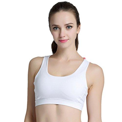 YAANCUN Yoga Weste BH Ohne Bügel Atmungsaktiv Schnell Trocken Multifunktion Stoßfest Damen Sport-BH Weich