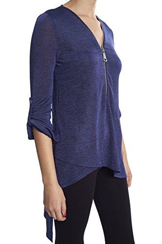 Joseph Ribkoff Blue Melange Tunic Top Style 173345
