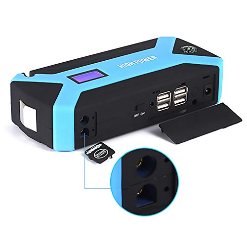 AWAKMER Dispositivo di Avviamento Portatile per Auto Torcia A LED E Ricarica USB E Laptop. Batteria Booster Pack E Alimentatore con Display LCD Cavi Intelligenti