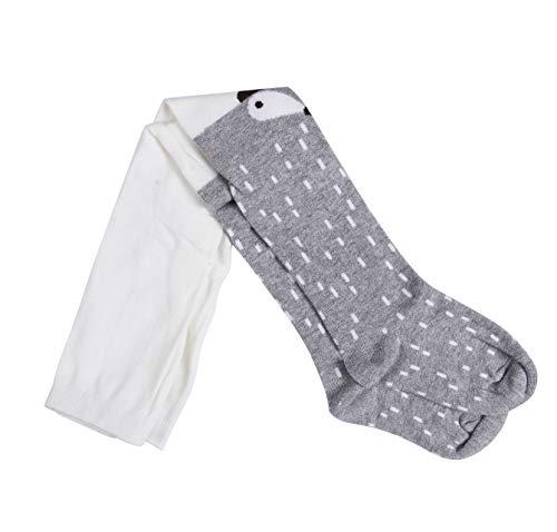 WangsCanis Baby Mädchen Baumwoll Fuchs Gedruckt Strumpfhosen Warm Krabbelstrumpfhose Socken Leggings Strumpf (M/3-4 Jahre, Grau)