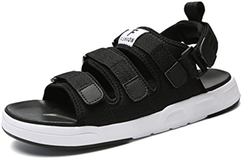 Sommer Herren Sandalen Offenen Peep Toe Atmungsaktive Gummi Sohle Entspannt Klettverschluss Sandaletten