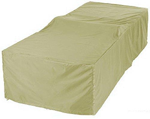 Grasekamp Schutzhülle 200x75cm Gartenliege Liegestuhl Sonnenliege Relaxliege Beige