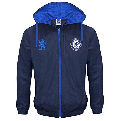 Chelsea F.C. Chelsea FC Official Football Gift Mens Shower Jacket Windbreaker XXL