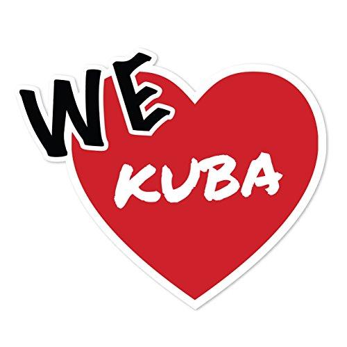 Preisvergleich Produktbild JOllify Aufkleber - KUBA – Farbe: Design: We love - Wir lieben