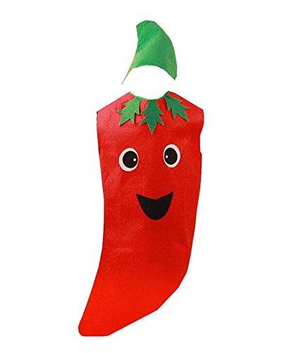 eidung Früchte Kostüm Anzug für Rollenspiele Modenschau, Chili (Kinder-frucht-kostüm)