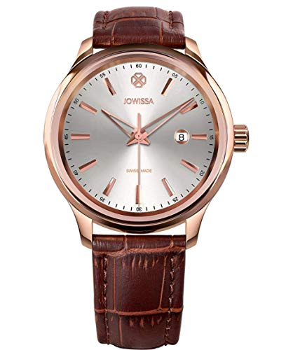 Jowissa Tiro Swiss J4.202.L - Reloj de Pulsera para Hombre, Color Plateado, marrón y Rosa