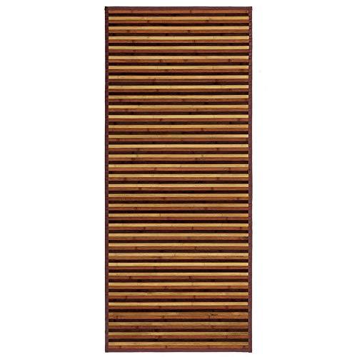 Alfombra Pasillera, de Rayas Color Neutro, de Bambú Natural 175 X 75cm Natur, 175x75- Hogar y Más