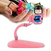 yuyte Flexible Nail Polish Display Stand, Nail Varnish Clip Holder, Manicure Tool