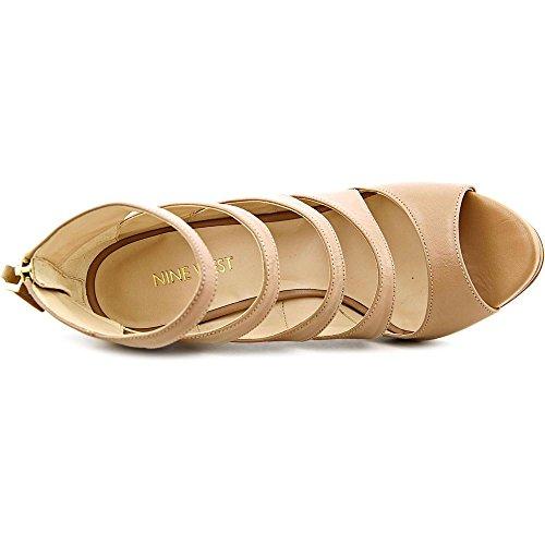 Nine West Amability Leder Sandale Taupe