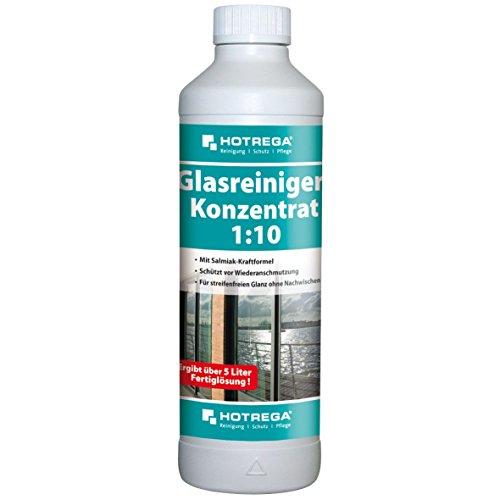 Hotrega H130510 Glasreiniger-Konzentrat 1:10, Streifenfrei trocknender Profi-Reiniger