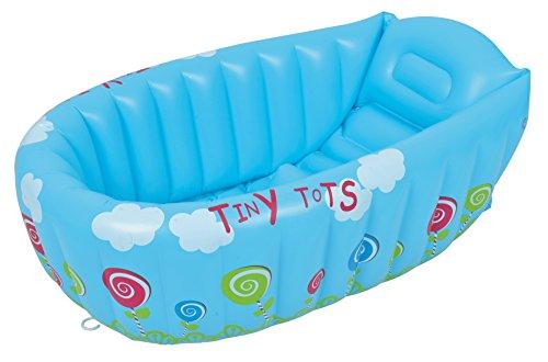 Frame Pools Baby-aufblasbare Wanne/aufblasbare Babybadewanne/Erwachsene falten Verdickung aufblasbare Zylinder/Kinder aufblasbare Badewanne/blau/gelb, blue