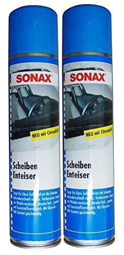 Preisjubel 2 x SONAX Scheibenenteiser 400ml, Defroster, Sprühenteiser, Entfroster-Spray