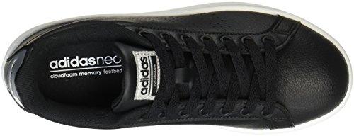 adidas CF Advantage CL W, Scarpe Sportive Donna Nero (Core Black/core Black/silver Metallic)